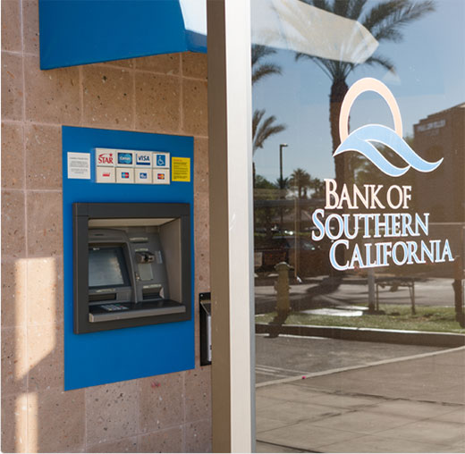 Bank of Southern California's ATM Machine