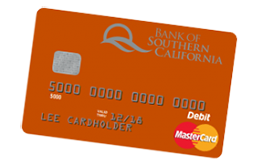 Bank of Southern California's Personal MasterCard Debit Card