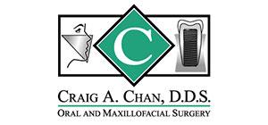 Craig A. Chan, D.D.S. Oral and Maxillofacial Surgery Logo