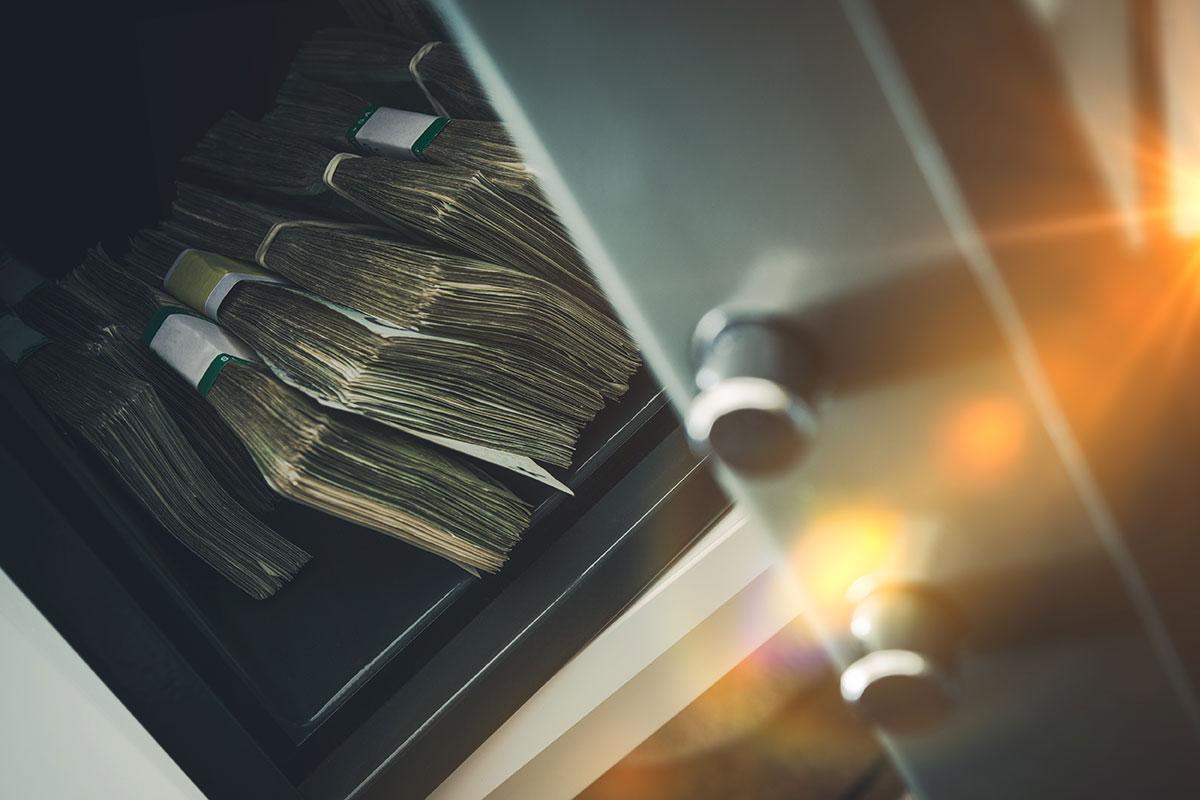 Money in a Cash Vault