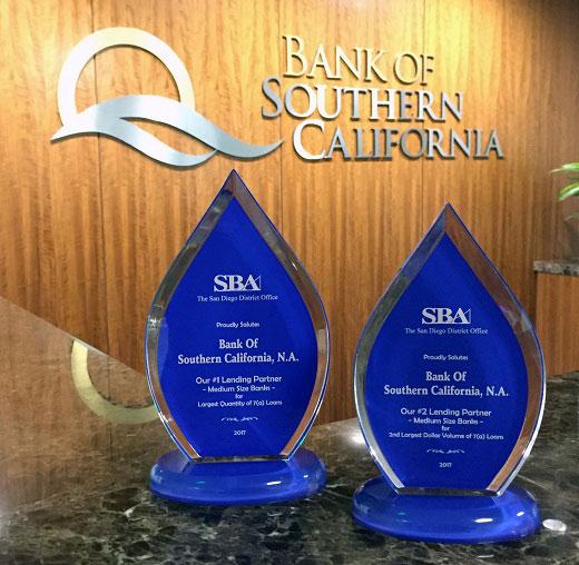A Close-up of Bank of Southern California's 2017 SBA Awards